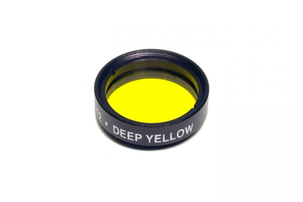 Светофильтр Levenhuk желтый №12, 1.25''
