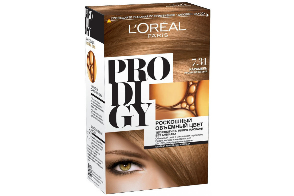L'Oreal Prodigy Краска для волос тон 7.31 карамель