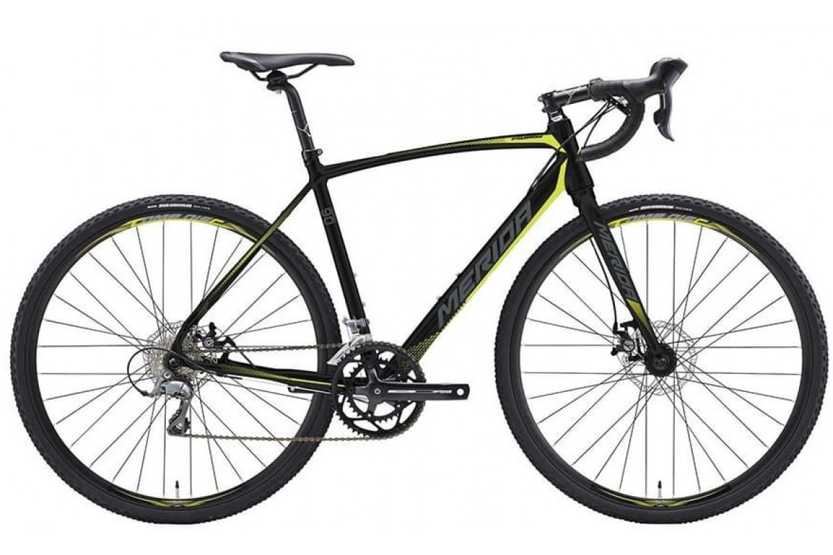 Велосипед Merida CycloCross 90 MattBlack/DarkSilver/Yellow 2019 SM(52cm)(05674)