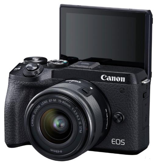 Беззеркальный фотоаппарат Canon EOS M6 Mark II EF-M 15-45mm f/3.5-6.3 IS STM Evf Kit черный