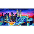 Schipper Ночной Манхеттен - раскраска по номерам, 40х80 см