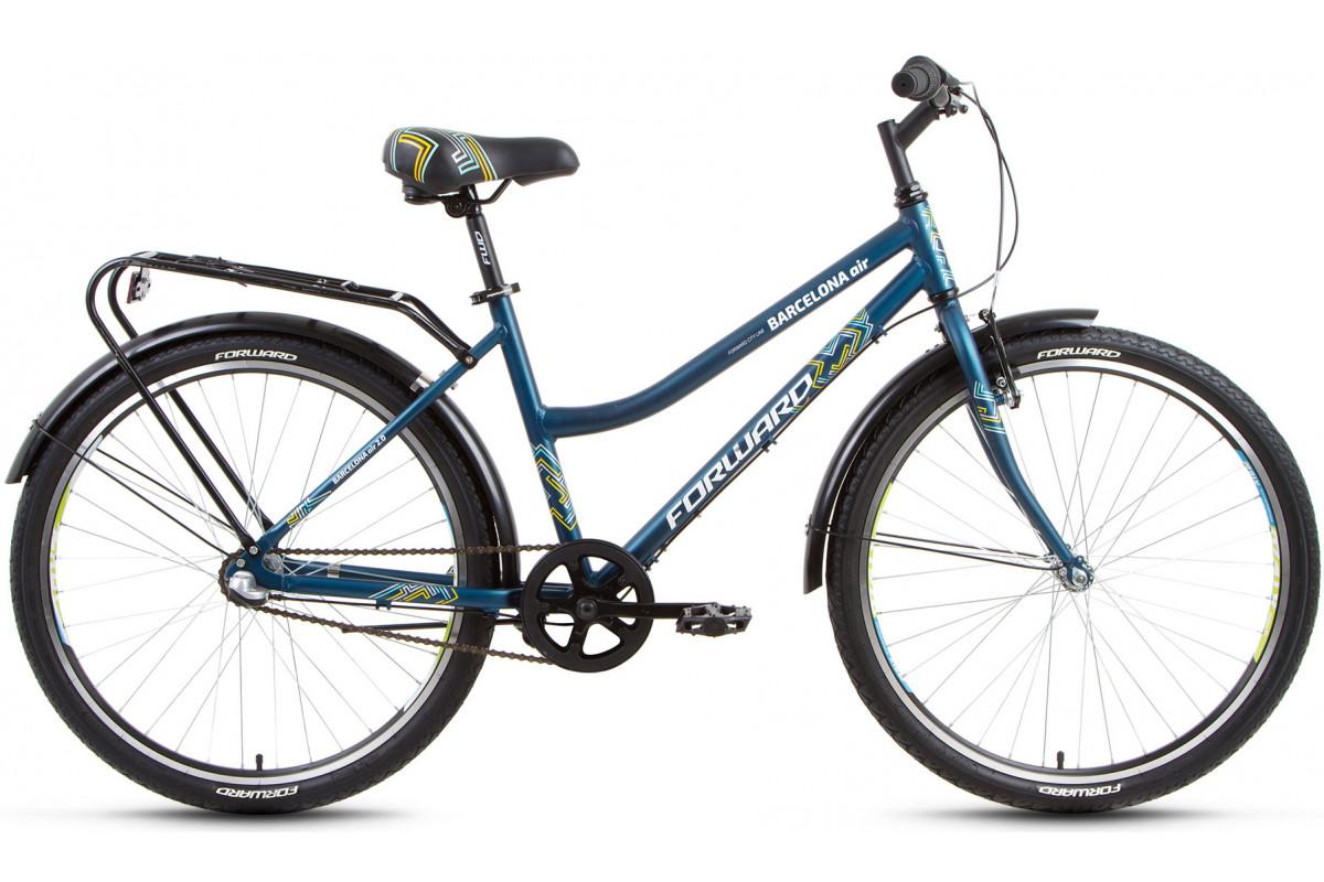 """Велосипед 26"""" Forward Barcelona AIR 2.0 3 ск 17-18 г 17' Бирюзовый Матовый"""