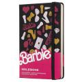Блокнот Moleskine Barbie Limited Edition, цвет черный, без разлиновки