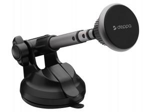 Автомобильный держатель Mage Cannon, магнитный, с телескопической штангой, серый, Deppa