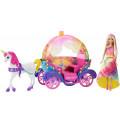 Barbie Радужная карета и кукла Mattel DPY38