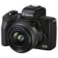 Беззеркальный фотоаппарат Canon EOS M50 Mark II kit EF-M 15-45mm f/3.5-6.3 IS STM черный