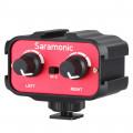 Двухканальный адаптер Saramonic SR-AX100 для микрофонов со штекером 3,5мм