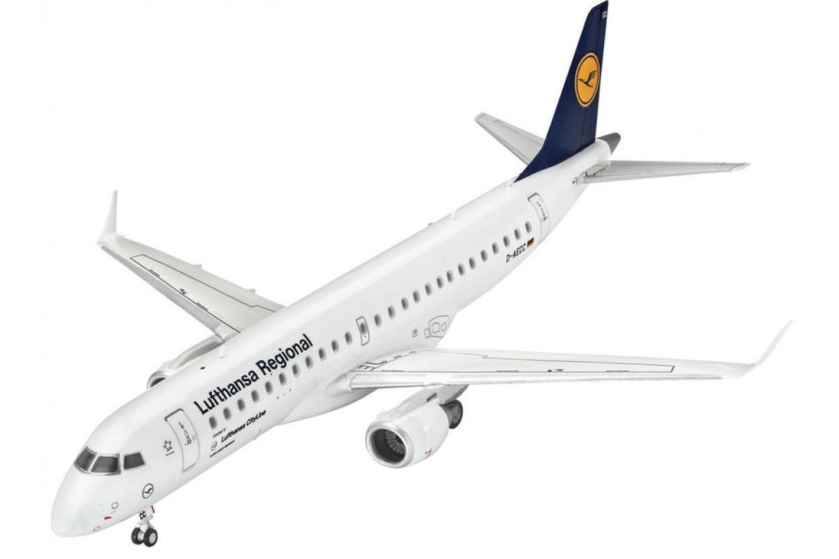 Revell Сборная модель пассажирский самолет Embraer 190 Lufthansa 1:144