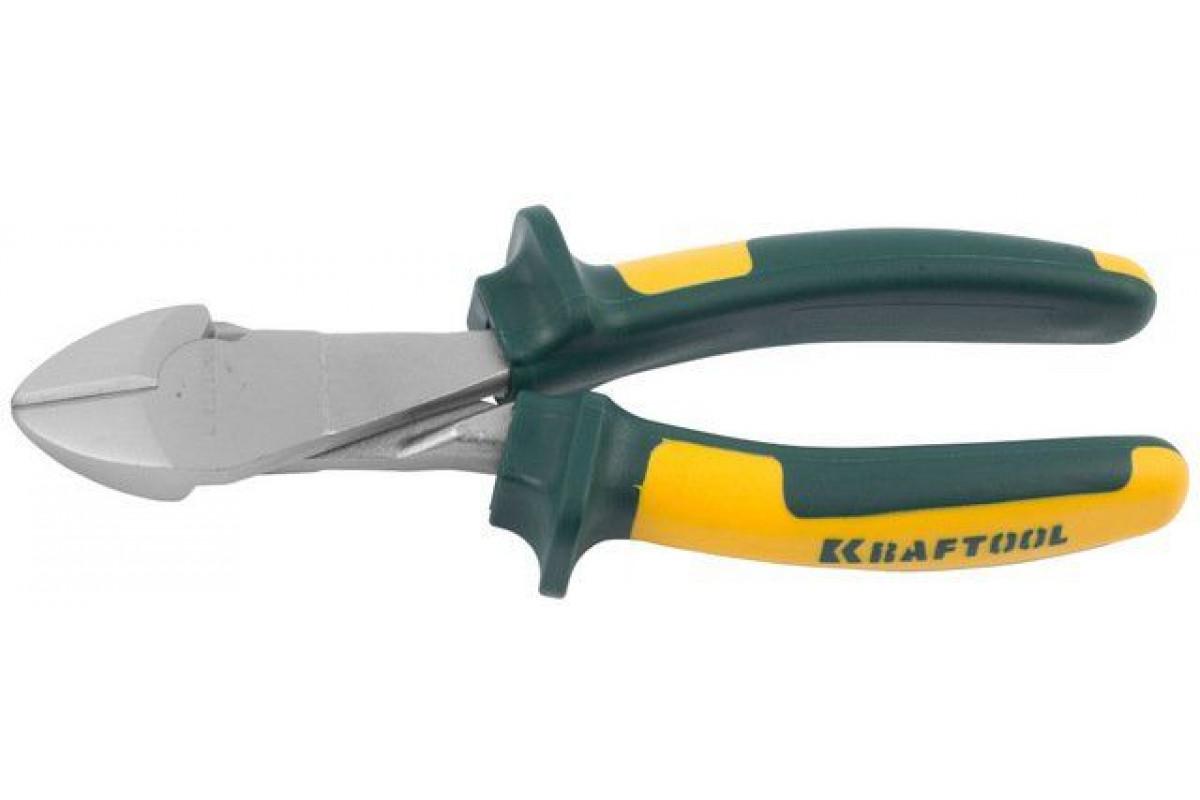 """Бокорезы Kraftool""""KRAFT-MAX"""",Cr-Mo,маслобензост двухкомп рукоятки,шарнирное соединение с повыш износост,160мм"""