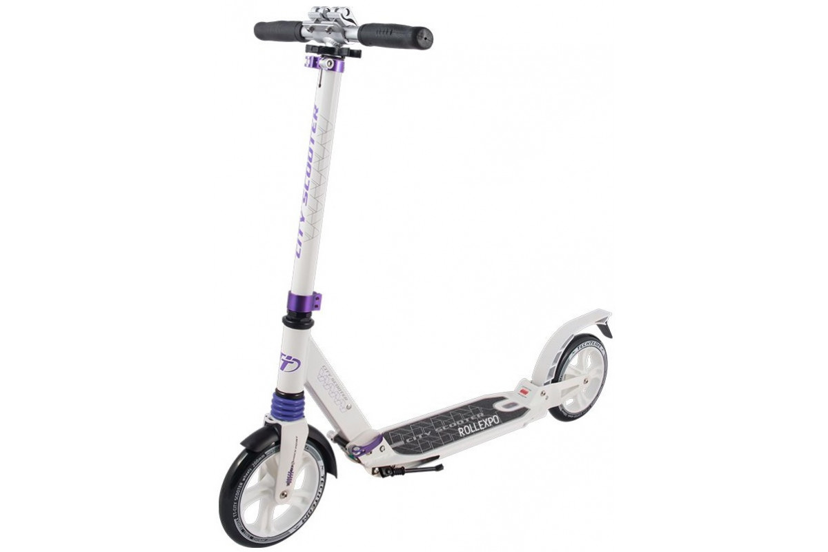 Tech Team City - самокат scooter бело-фиолетовый 2019