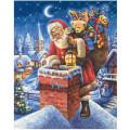 Schipper Санта Клаус на крыше - раскраска по номерам, 40х50 см