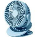 Вентилятор портативный Xiaomi SOLOVE clip electric fan 3 Speed, синий