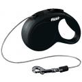 Поводок-рулетка Flexi New Classic трос XS 3m 8 кг черный