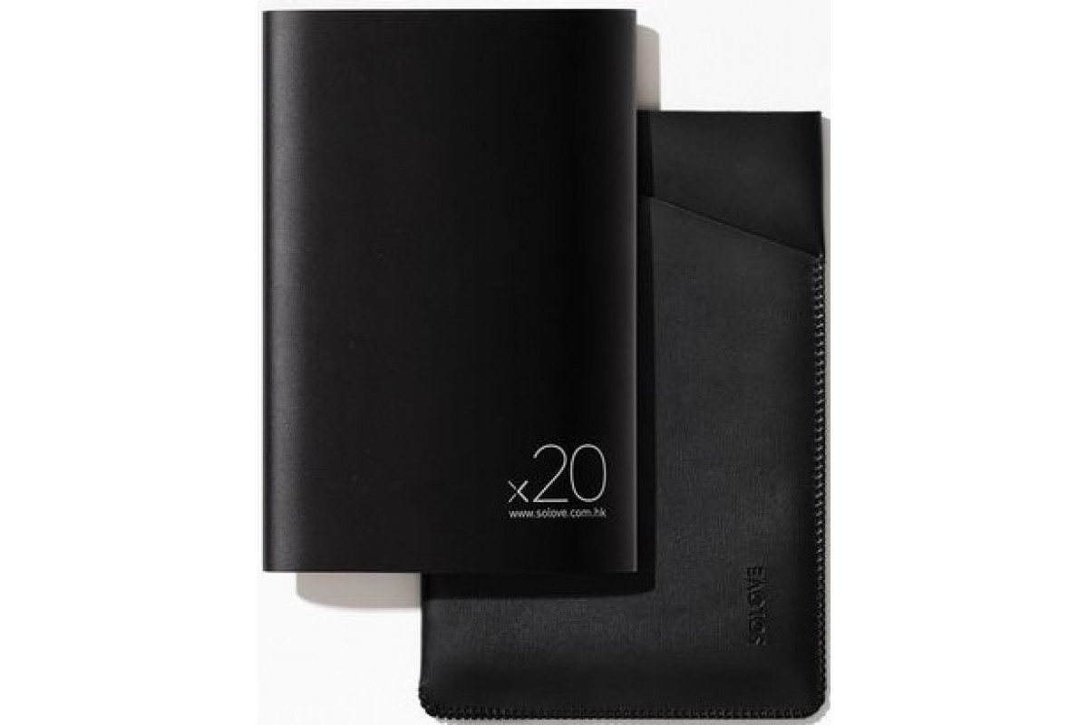 Внешний аккумулятор Xiaomi (Mi) SOLOVE 20000 mAh с кожаным чехлом (A8-2 Black), черный