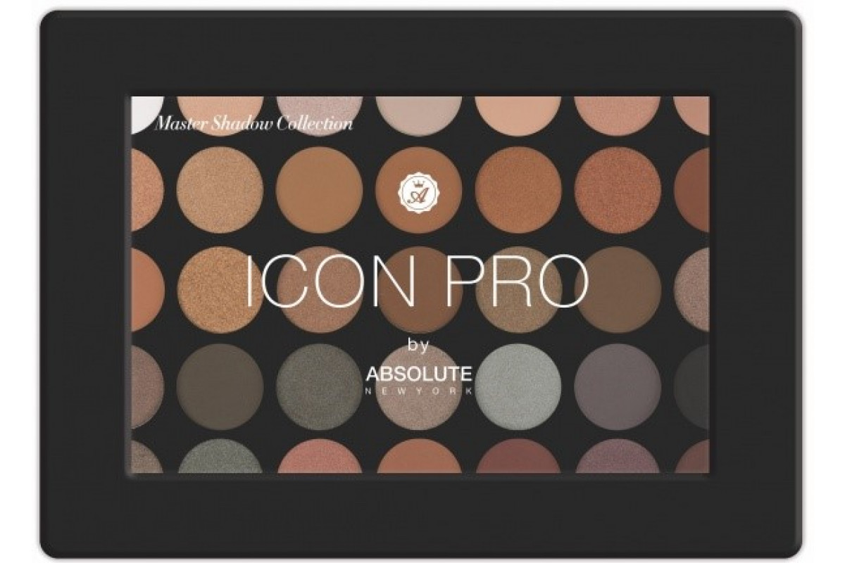 Absolute New York ICON Pro Palette Палитра теней для век в оттенке Smoke&Mirror