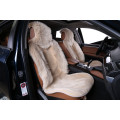 """Накидка """"Автопилот"""" на переднее сиденье, искусственный мех, Комбинированный ворс, Темно-бежевая"""