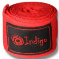 Бинт боксёрский Indigo 1115 3,5 м Красный