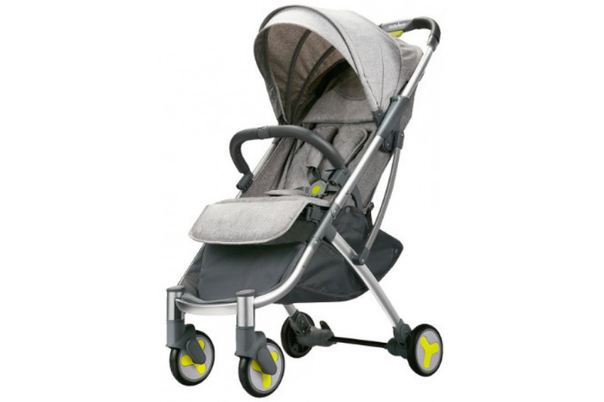 Xiaomi BEBEHOO START Lightweight Four-wheeled Stroller - прогулочная коляска, серая
