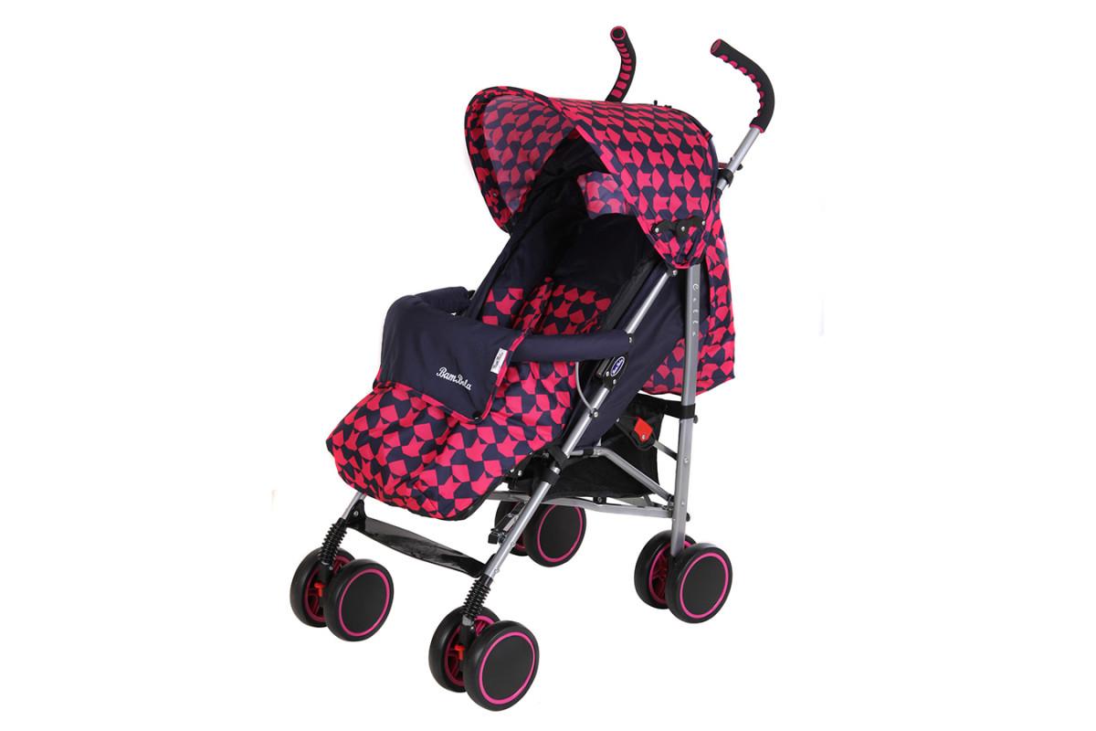 BamBola НР-313 Клетка - прогулочная коляска-трость розово-синяя
