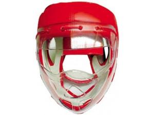Шлем боксёрский с защитной маской Indigo PS-832 Красный XL