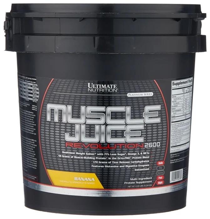 Гейнер Ultimate Nutrition Muscle Juice Revolution (5.04 кг) банан