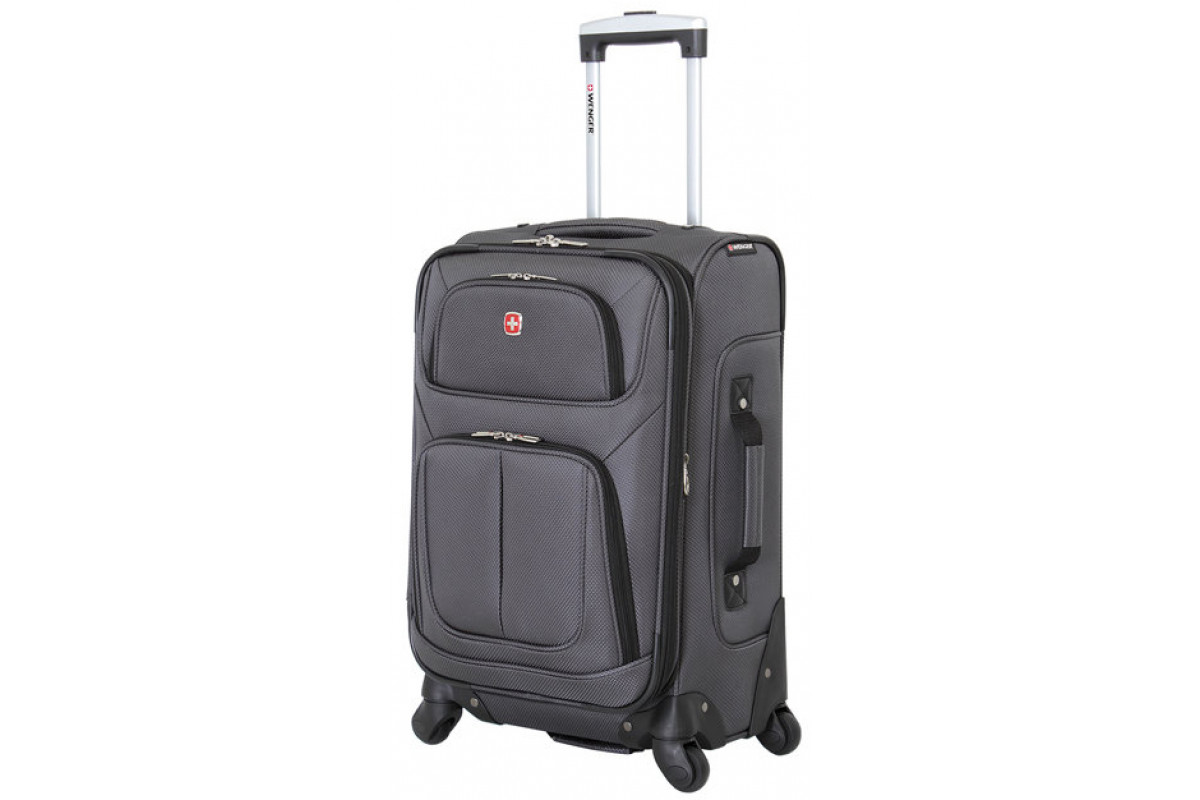 Чемодан WENGER SION, серый, полиэстер 750x750D добби, 46 x 29 x 80 см, 90 л , WGR6283424181