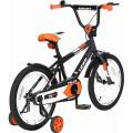 Velolider Lider LP18HO MATT Pilot - двухколесный велосипед черный-оранжевый
