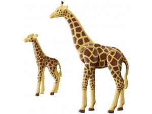 Playmobil Конструктор Зоопарк: Жираф со своим детенышем жирафом