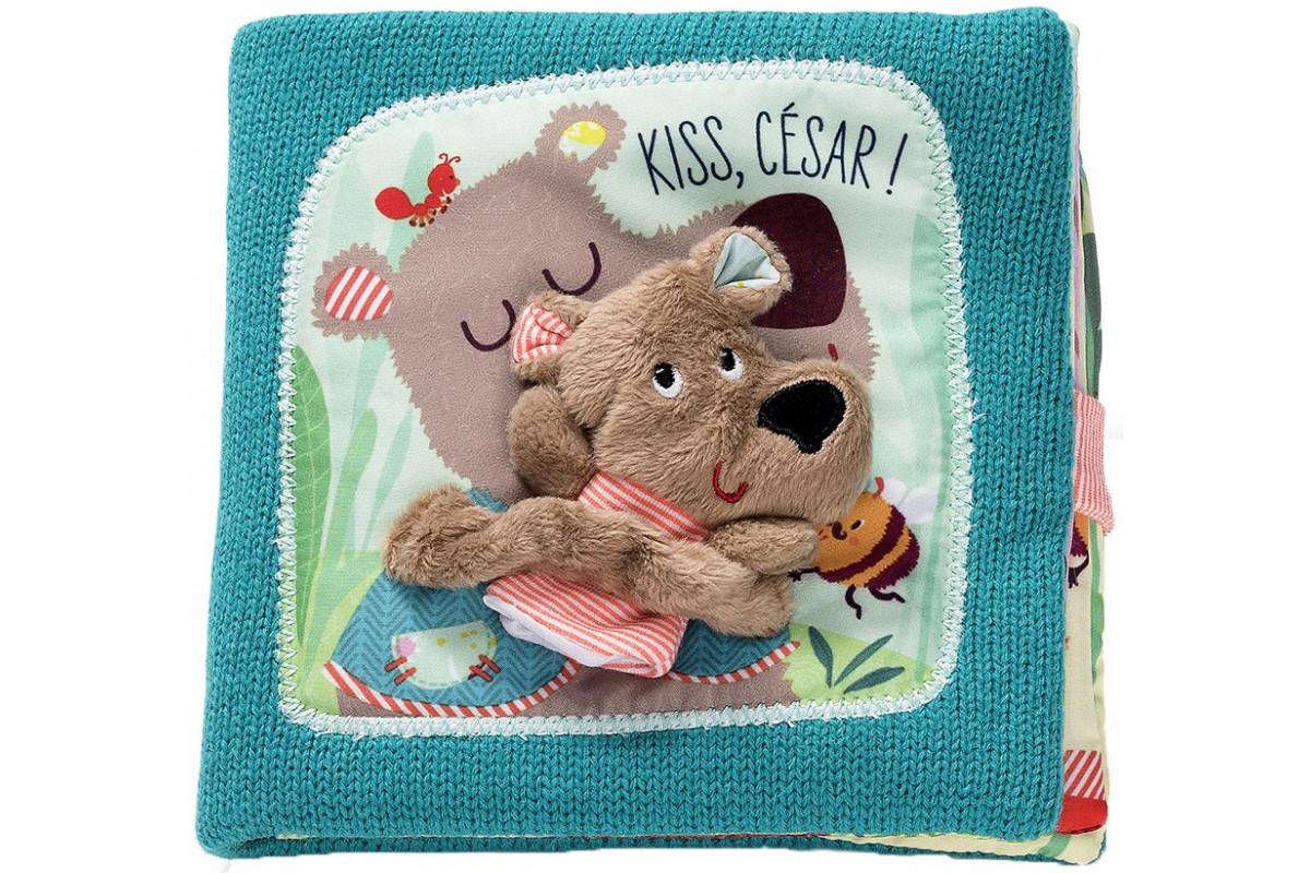Lilliputiens Игрушка-книжка Поцелуй Медвежонка Цезаря на ночь