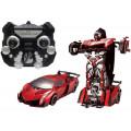 Робот 1toy на радиоуправление 2,4GHz, трансформирующийся в спортивный автомобиль, 30 см, красный