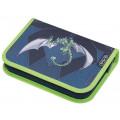 Herlitz Пенал 31 предмет, Green Robo Dragon
