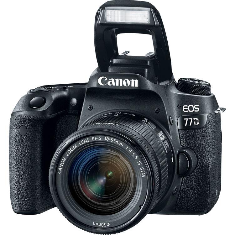 Зеркальный фотоаппарат Canon EOS 77D Kit 18-55 IS STM
