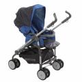 BabyLux Carita 205S (8 колес) - прогулочная коляска Led blue голубая