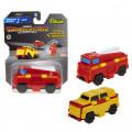 Transcar 1TOY 2в1: Пожарная машина – Джип, 8 см, блистер