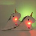 Тапочки GoodNight Единорог-2 светящиеся белые Уценка 4431