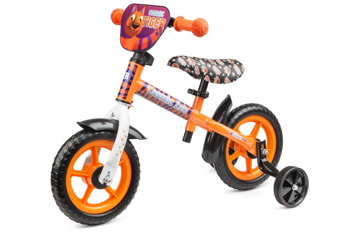 Small Rider Cosmic Zoo Ballance - беговел с доп.колесиками оранжевый (тигренок)