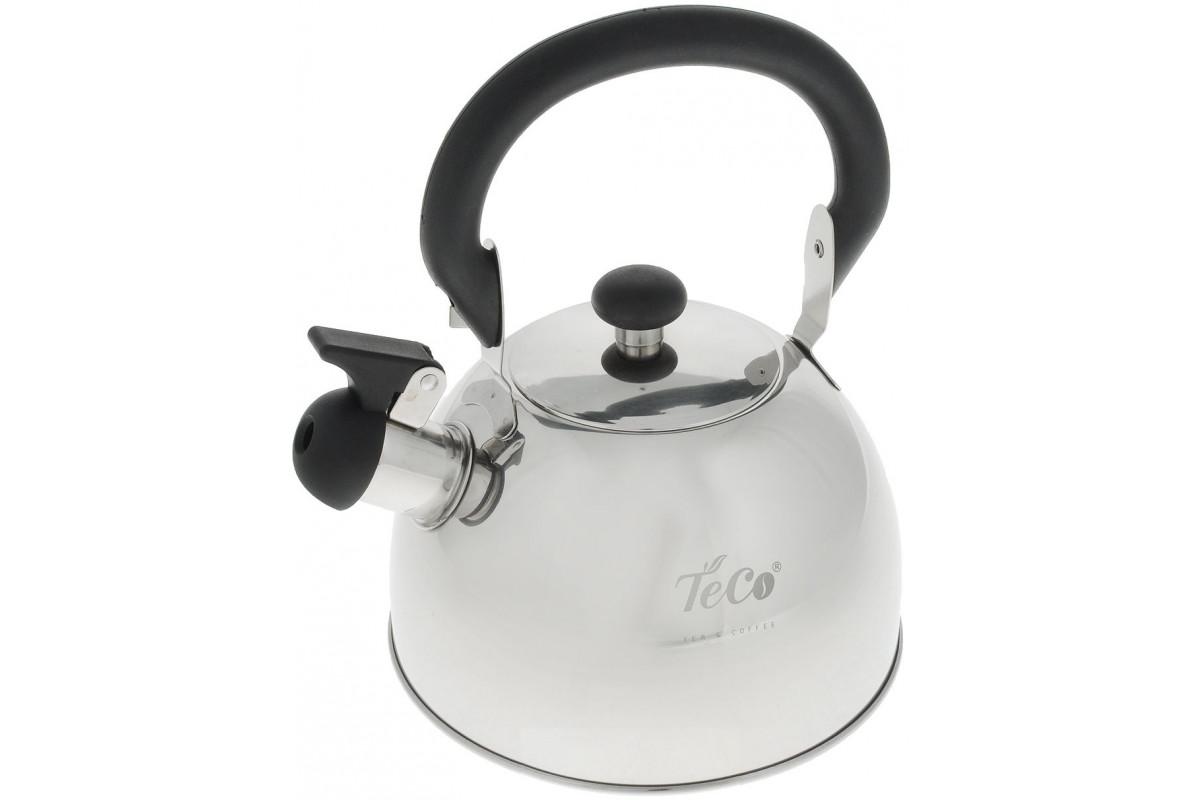Чайник TECO TC-119 (2,0л,со свистком,нержавеющая сталь,свисткок)