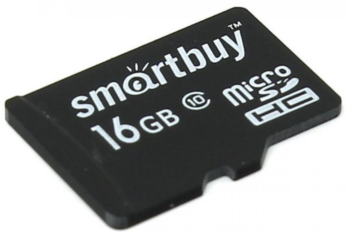 Карта памяти Smartbuy microSDHC 16GB Class 10 UHS-I с адаптером SD