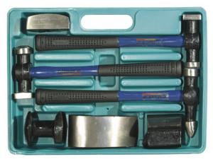 """Набор STAYER """"MASTER"""": Молотки рихтовочные с правками, ст/пл рук., 7 предметов"""