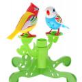 DigiBirds Две птички с деревом, голубая с белой головой и желтая с красной головой