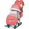Ника Детям 7 3 - детские санки-коляска красные