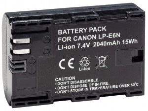 Аккумулятор Prolike PR-LPE6N (LP-E6 для EOS 6D 60D, 70D, 80D, 7D, 5D mark II, mark III) 2040mAh