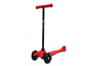 Y-Scoo RT Mini Shine A5 - детский самокат. красный со светящими колесами