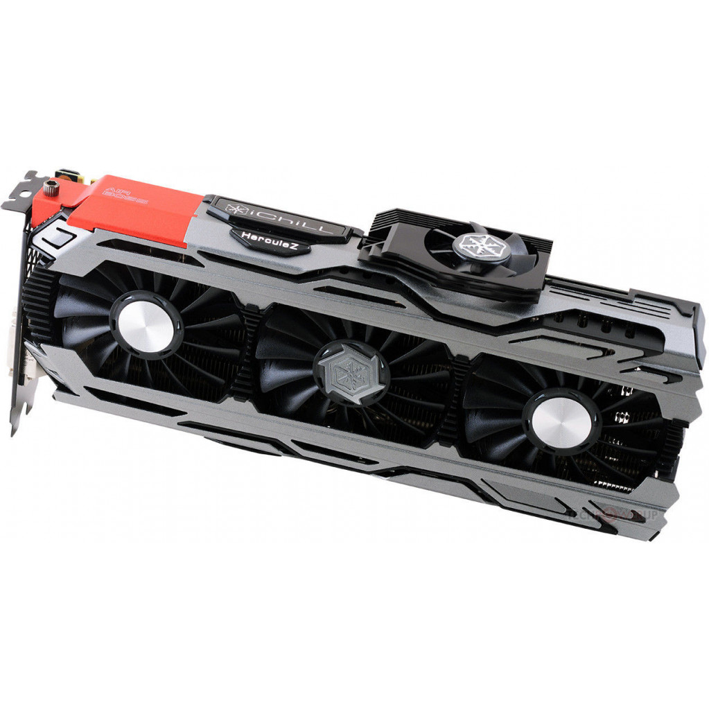 Видеокарта Inno3D iChill GeForce GTX 1080 X4 (1759MHz / 10.4Gbps) / 8GB GDDR5X / 256-bit   / DP+DP+DP+HDMI+DVI / GP104FA680 / VC96, C108V4-2SDN-P6DNX