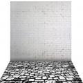 Фон виниловый Andoer 1,5 x 2м, кирпич и камень