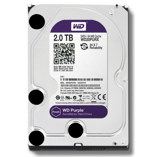 "Жёсткий диск WD Purple™ WD20PURZ 2ТБ 3,5"" IntelliPower 64MB (SATA-III) DV"