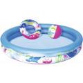 Bestway Детский набор для плавания: бассейн, круг для плавания, пляжный мяч 51120