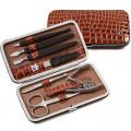 Zinger Маникюрный набор 7 предметов MS-FC201-S коричневый