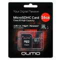 Qumo microSDHC class 10 UHS-I U1 16GB + SD adapter
