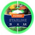 Леска для садовых триммеров Patriot Starline d=3.0мм L=15м (805201066)